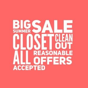 Will accept all reasonable offers!